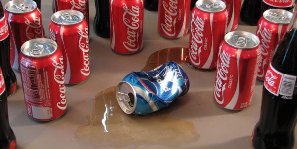 Coca-Cola et Pepsi sont leaders du marché des boissons gazeuses goût cola