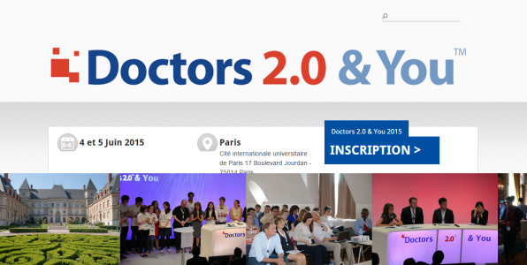 La page d'accueil du site de Doctors 2.0 & You
